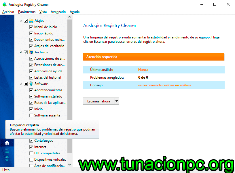 Descargar Auslogics Registry Cleaner Final Gratis