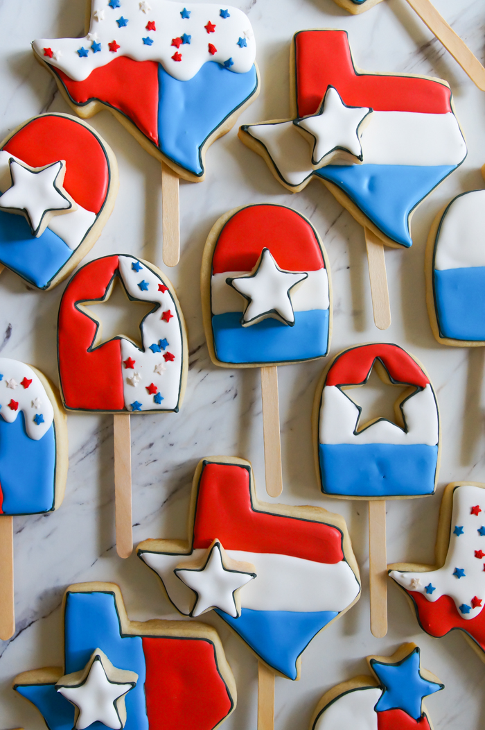 bomb pop cookies for the 4th of July