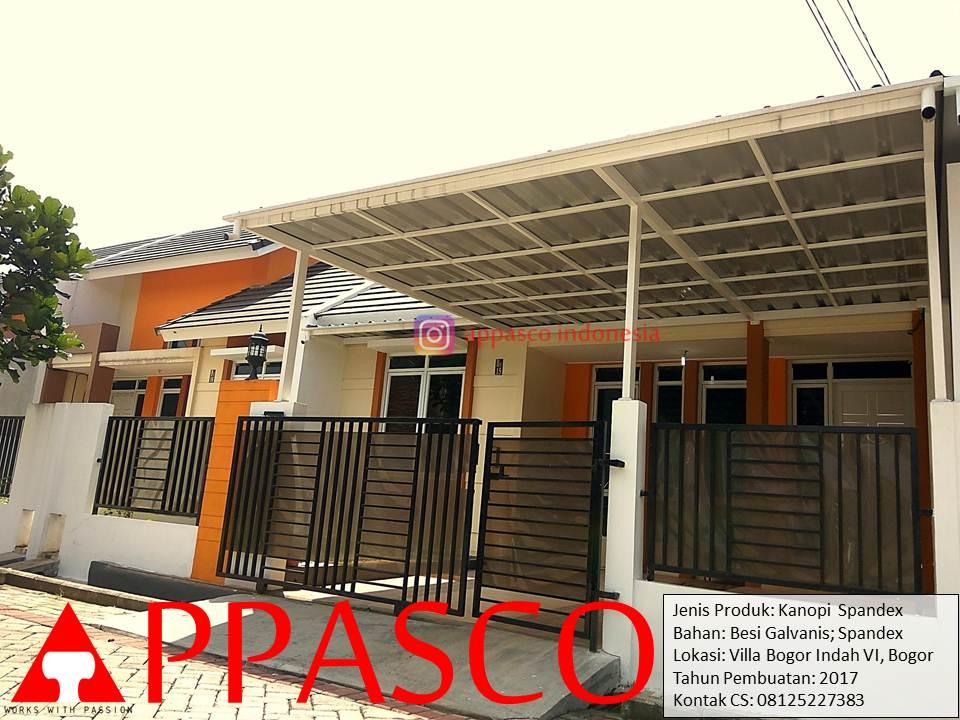 Knaopi Spandek Galvanis Minimalis di Villa Bogor