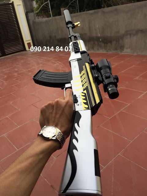 Súng mô hình Pubg đạn thạch AKM _5