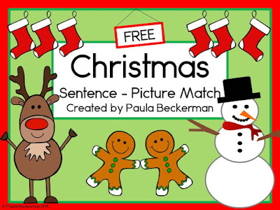 https://www.teacherspayteachers.com/Product/Christmas-Sentence-Picture-Match-1592097