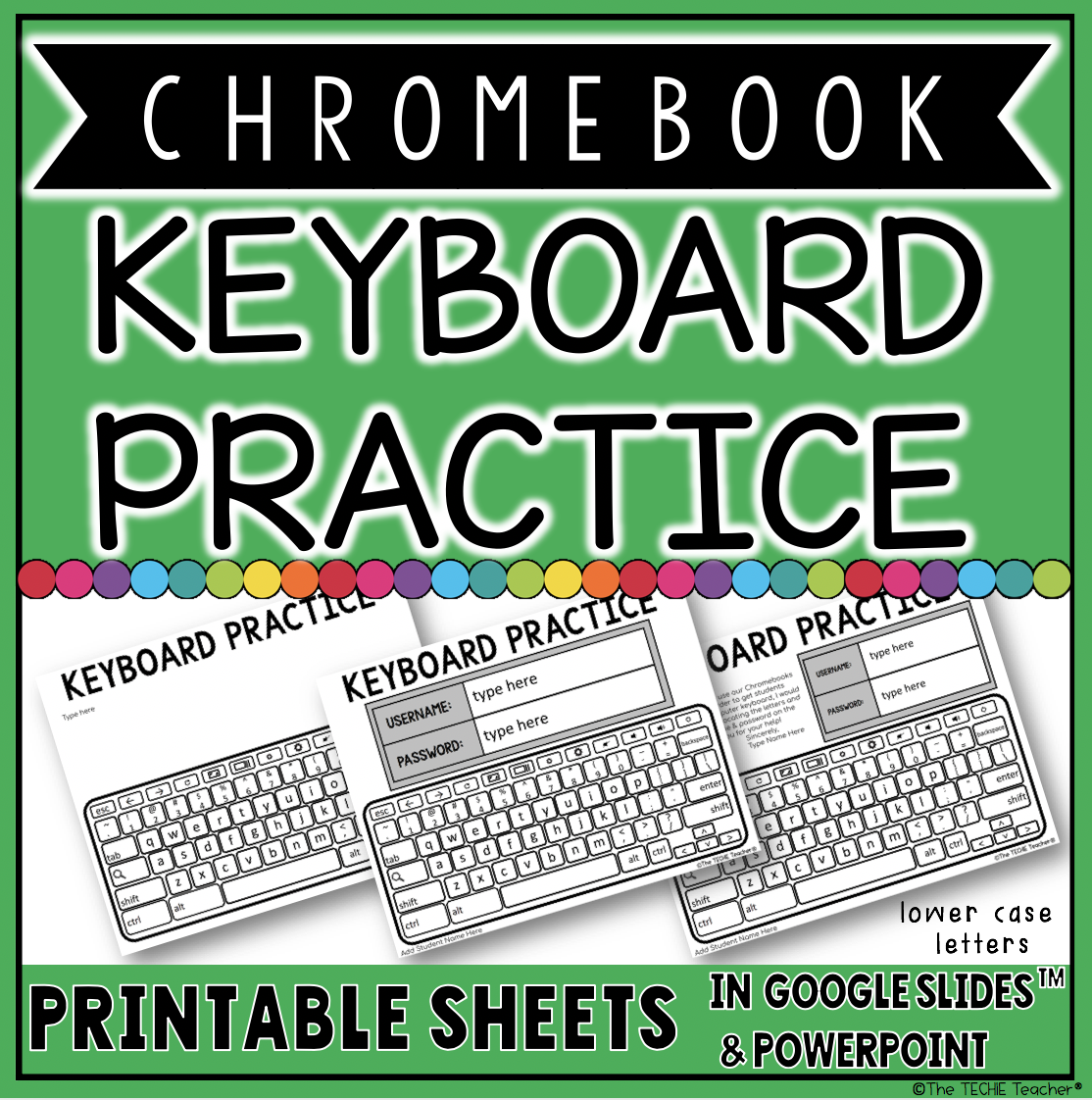 Chromebook Keyboard Practice Sheets for logging in