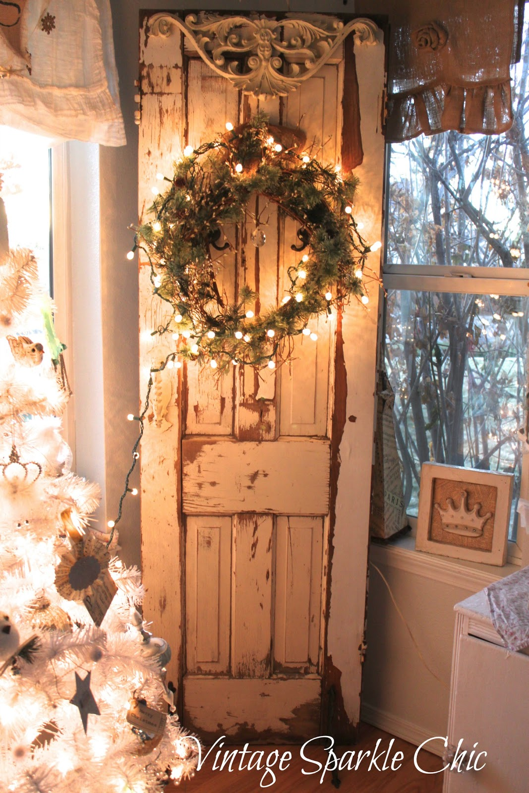Vintage Sparkle Chic: French Shabby Christmas decorations