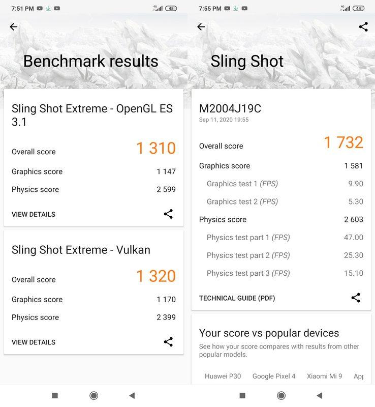 Benchmark 3DMark Xiaomi Redmi 9