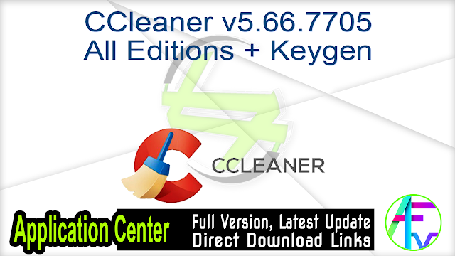 CCleaner v5.66.7705 All Editions + Keygen