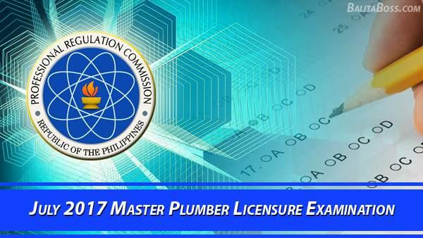 Master Plumber July 2017 Board Exam