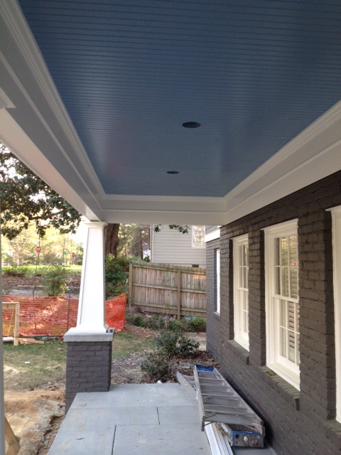 The Story Behind Blue Porch Ceilings