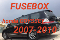 diagram fusebox HONDA ODYSSEY 2007-2010