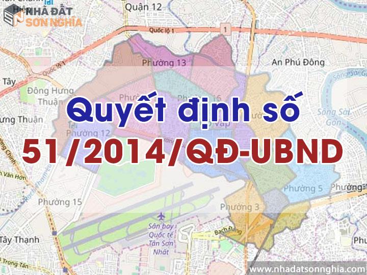 Quyết định số 51/2014/QĐ-UBND