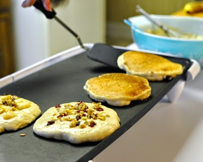 Lifetime Pancakes, my sister's recipe for light, fluffy pancakes, scaled from a tiny batch for one or two to a large batch for a big family (or hungry teenagers). Just one more reason to Make Tonight #PancakeNight.