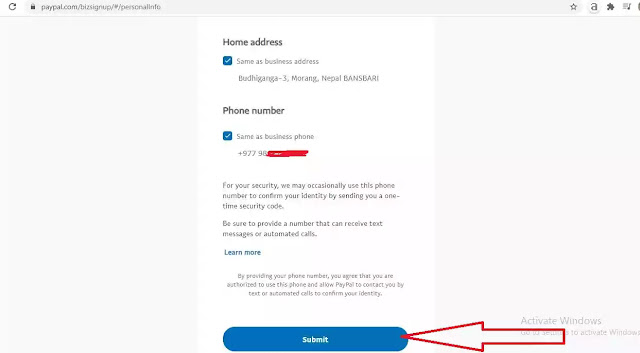 how to create verified paypal account in Nepal
