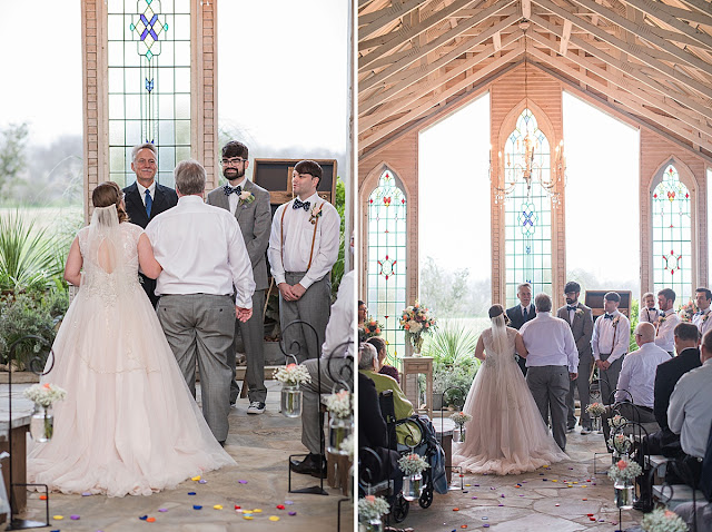 Gruene Estate New Braunfels Texas wedding venue, Chapel with stained glass