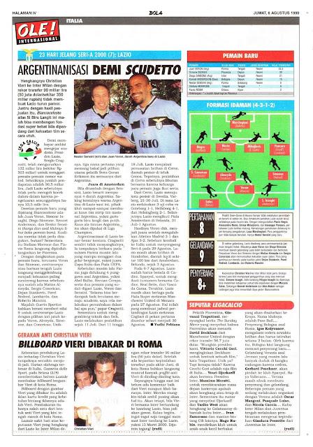SERI-A 2000: LAZIO ARGENTINANISASI DEMI SCUDETTO