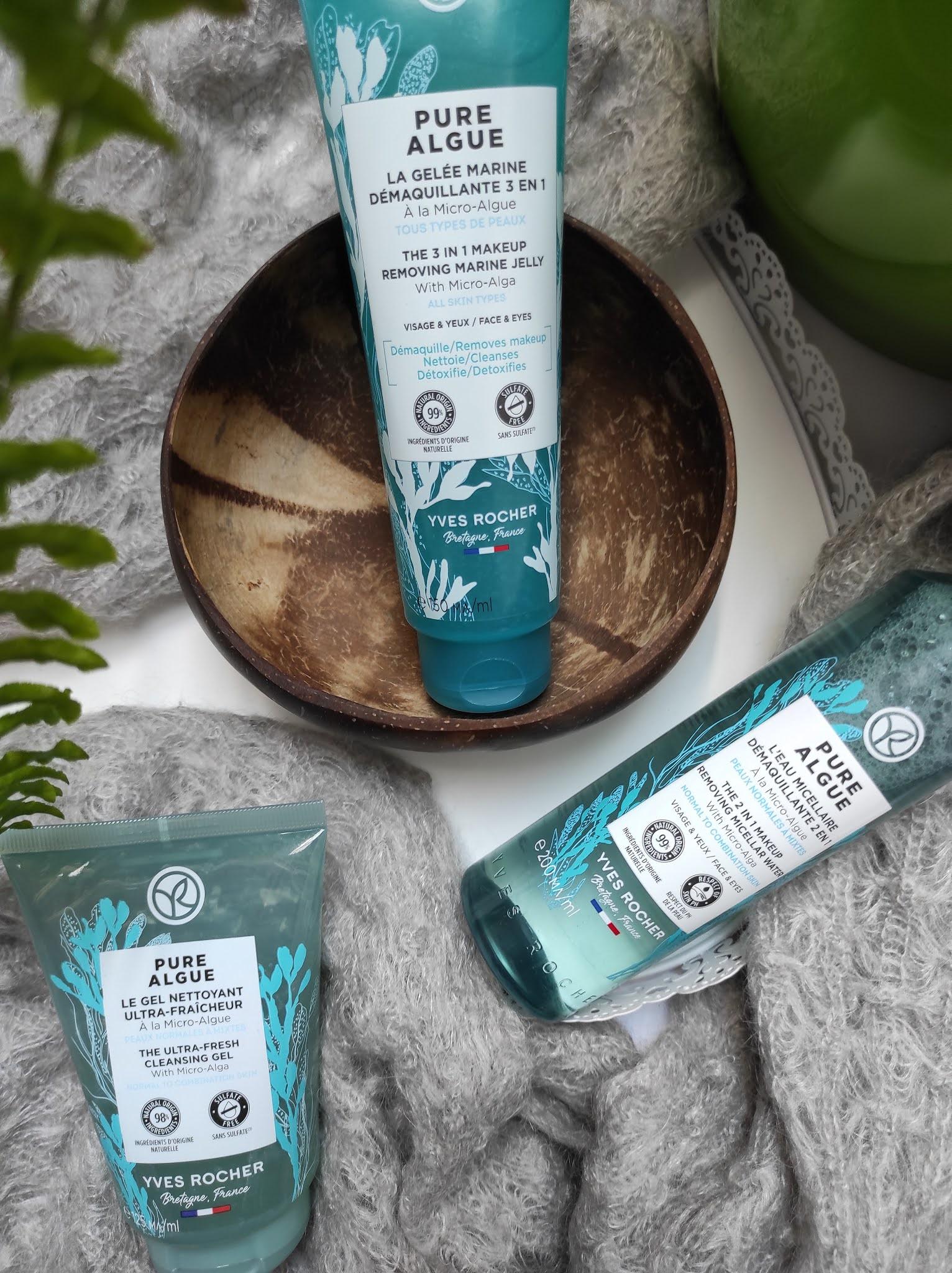 Pure Algue - kosmetyki do demakijażu i oczyszczania twarzy  Yves Rocher