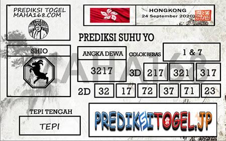 Prediksi Suhu Yo HK Kamis 24 September 2020