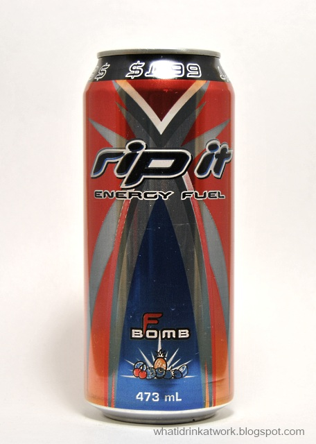 What I Drink At Work: Rip It F Bomb Energy Drink Review