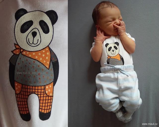 malované bodýčko panda