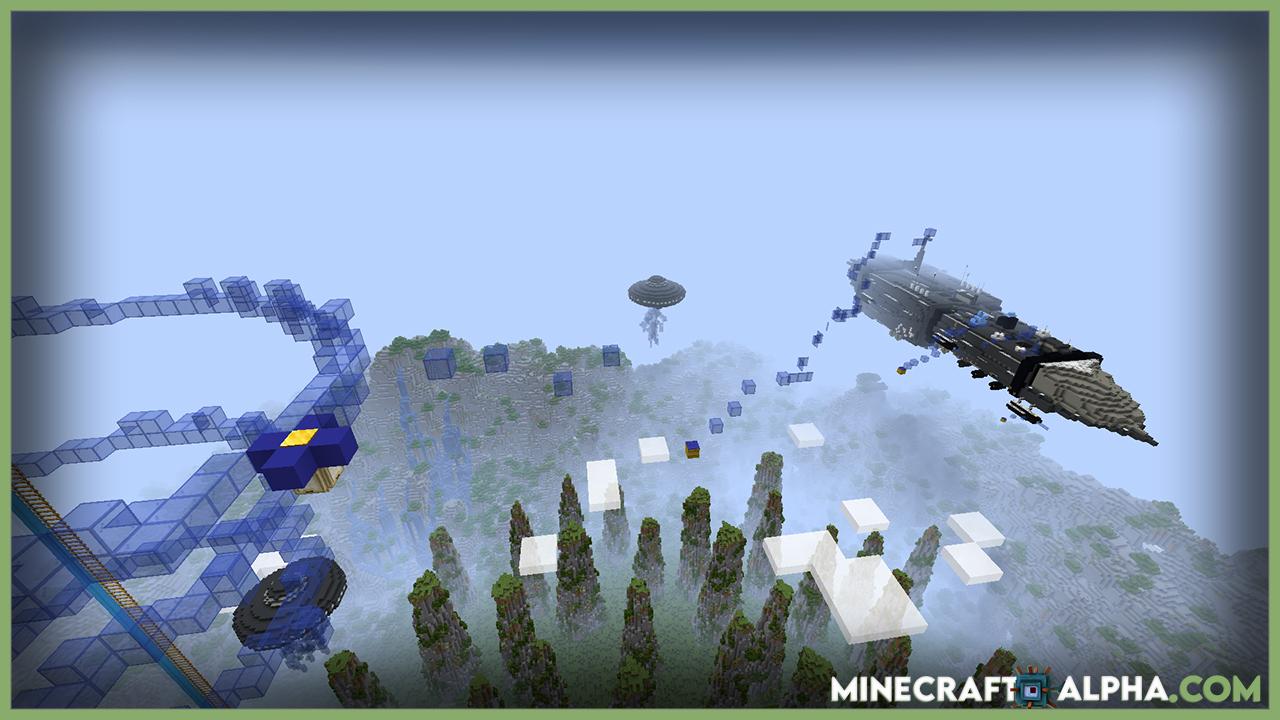 Minecraft Insane Alien Parkour Map