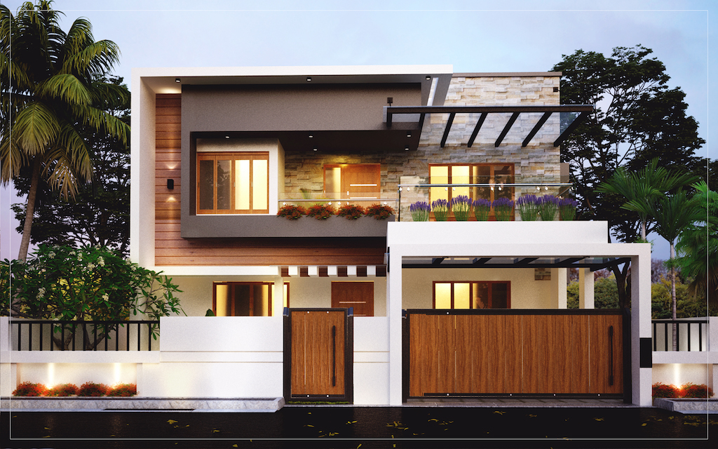 Kerala Home Design 2200 sq ft 4 bed room residence