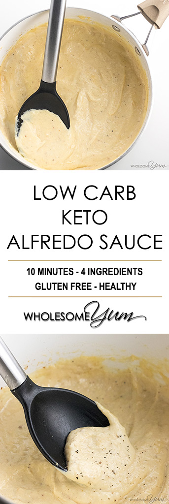EASY LOW CARB KETO ALFREDO SAUCE RECIPE - GLUTEN FREE