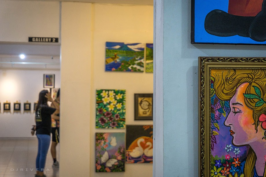 Some artworks for sale at The Blanco Art Gallery