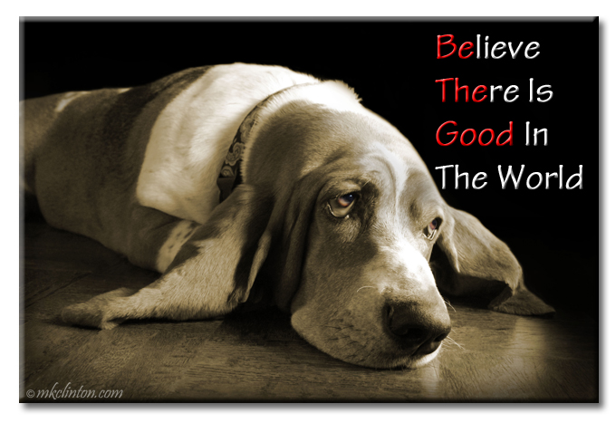 Be the Good meme with Basset Hound