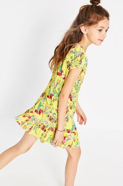 Moda en vestidos primavera verano 2018 para nenas.