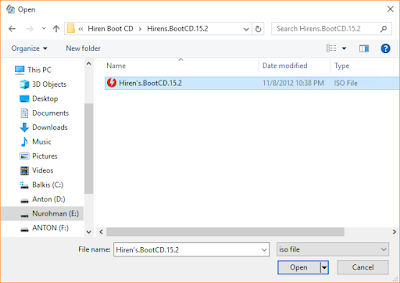Cara Cepat Membuat Bootable Hiren's Boot CD Di USB Flashdisk