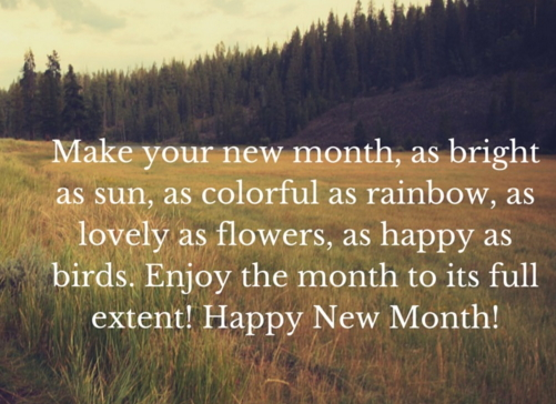 happy new month march 2016
