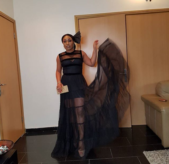 Have you seen Rita Dominic's look to Banky W and Adesua's wedding?