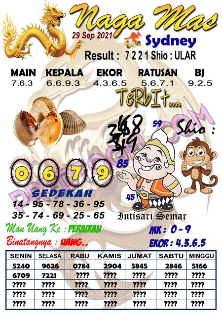 Syair Nagamas Sdy Rabu 29 September 2021