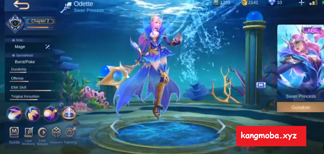 Script Skin Epic Odette Mermaid Princess Full Effect Mobile Legends