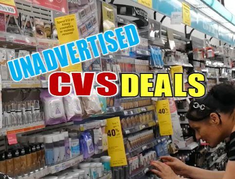 CVS UNADVERTISED Coupon deals this week