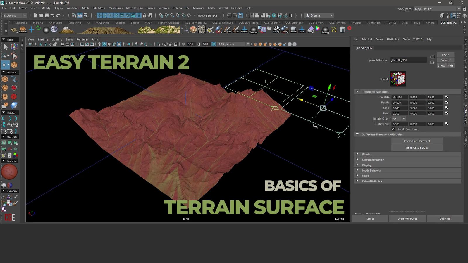 Basics of Terrain Surface in EasyTerrain 2 | CG TUTORIAL