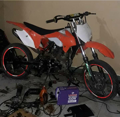 Modif Yamaha Byson jadi Motor Trail
