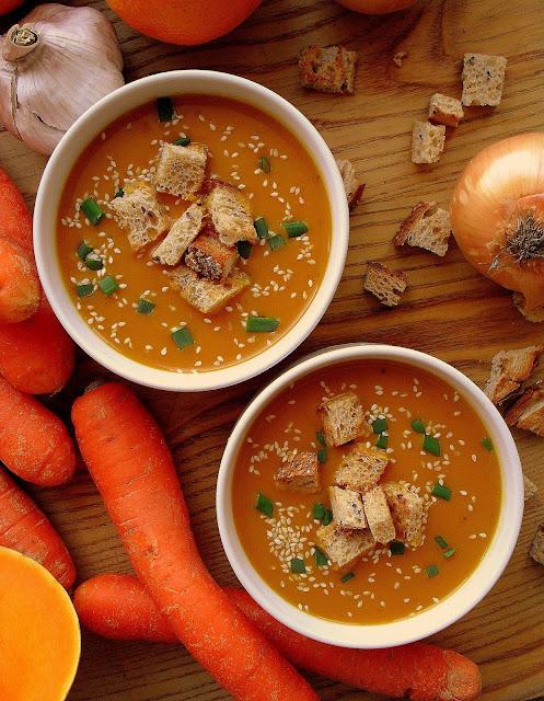 Zupa dyniowo-marchewkowa / Butternut Squash and Carrot Soup