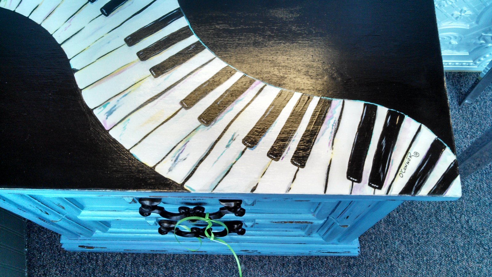 Carolyn's Funky Furniture: Piano top Chest