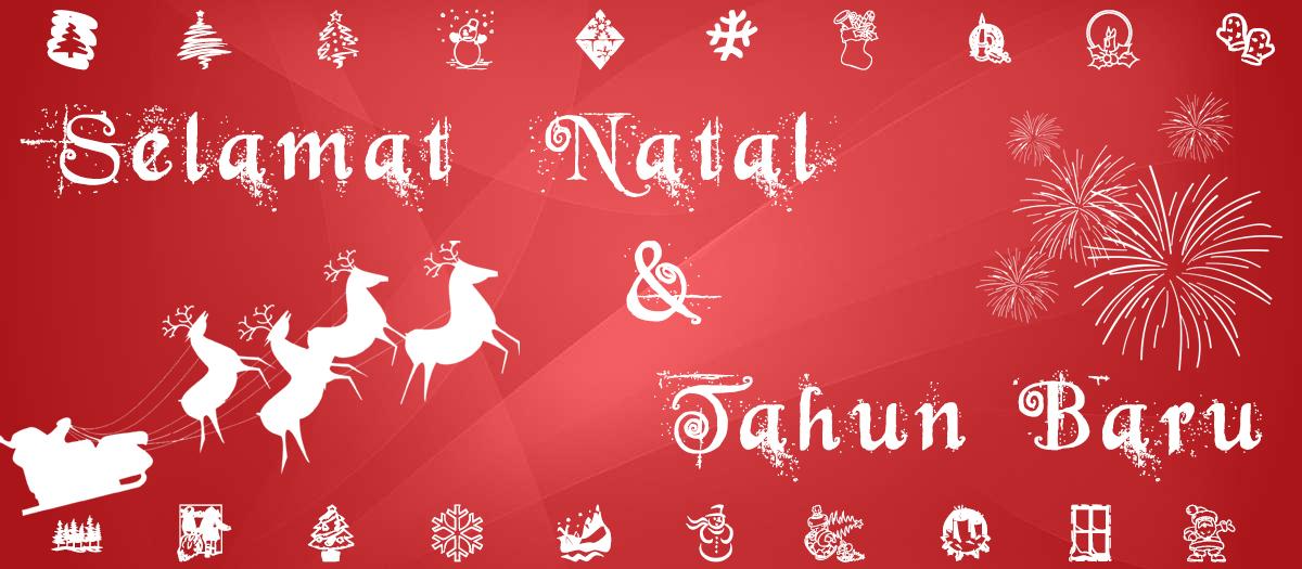 Contoh Spanduk Ucapan Selamat Natal - desain spanduk keren