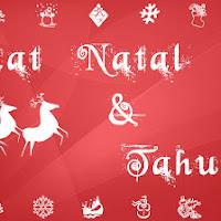 Mentahan Poster Atau Sepanduk Ucapan Selamat Natal