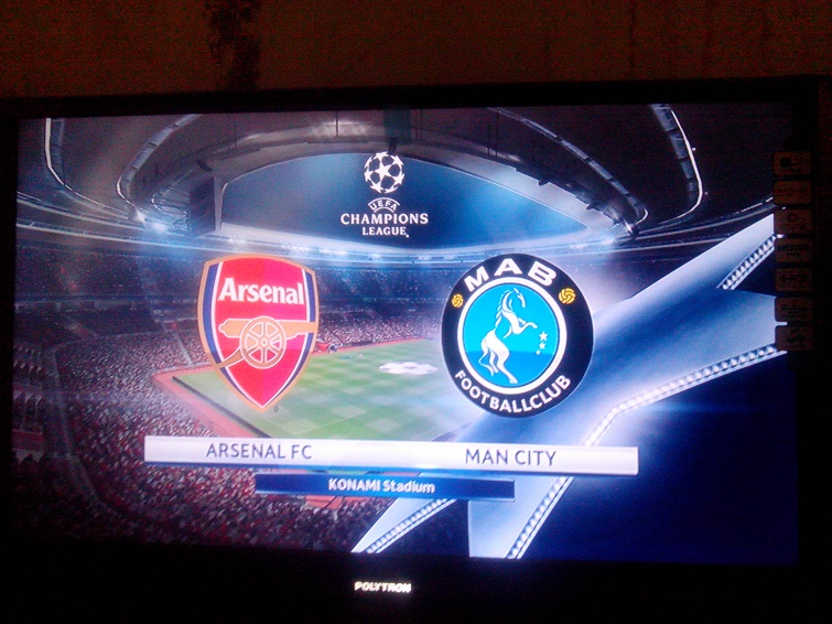 main pes di ps3 arsenal vs man city