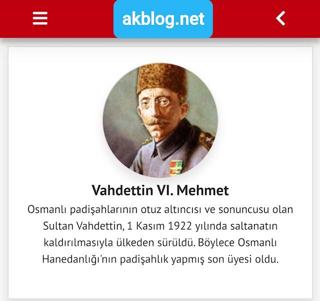Vahdettin VI. Mehmet Kimdir Tarihçe-i Hayat