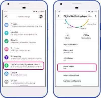 Cara menggunakan Mode Focus atas Android 10-1