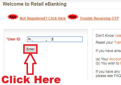 how to reset bank of baroda login password online