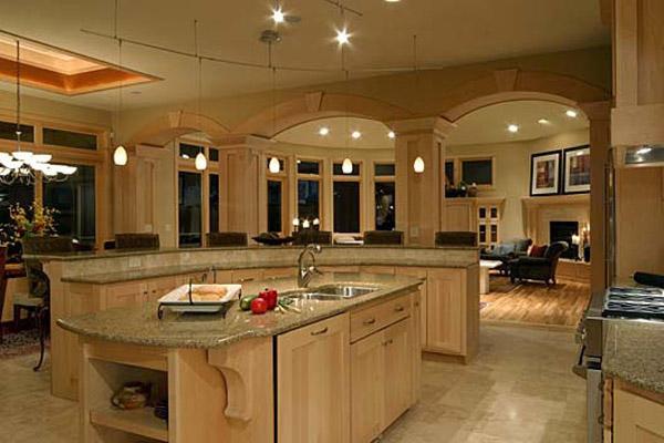 Encimeras de granito y muebles de madera para la - Encimeras madera cocina ...