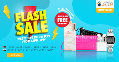 Flash Sale - Everything Below ₱99 from 12PM - 3PM