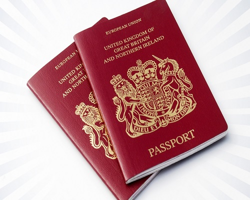 The words 'European Union' have been removed from UK passports
