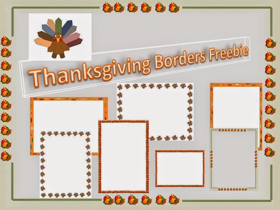 Thanksgiving Borders Freebie