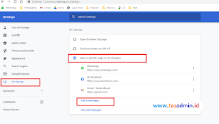 Mengatur Startup Chrome