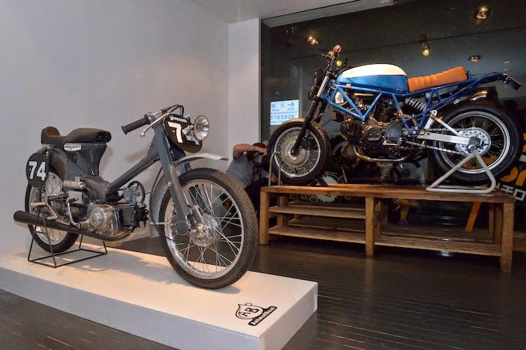 Retro Custom Motor Bike Exhibition Rocketgarage Cafe