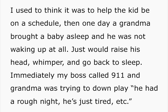 Babysitter Explains Why She Never Accepts Kids Who Are Sleeping